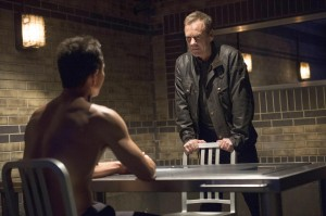 Sitting bare skin in front of an angry Jack Bauer is as risky as cooking bacon with no shirt on